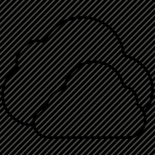 clouds, data, fog, rain, sync, weather icon