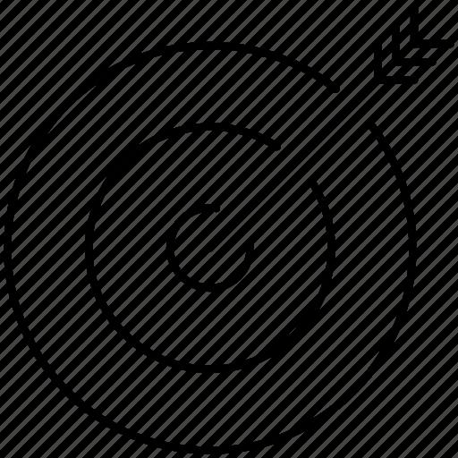 aim, arrow, bow, bullseye, goal, marketing, target icon