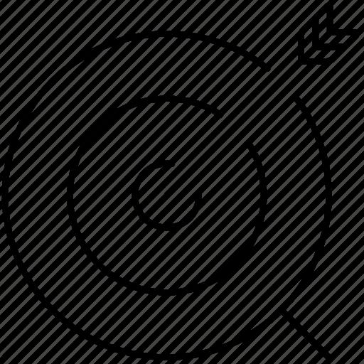 aim, arrow, bullseye, goal, objective, success, target icon