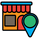 gps, home, location, marketting, store, warehouse icon