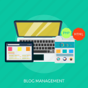blog, business, community, ecommerce, idea, management icon