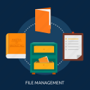archive, document, file, management, office, sitemap icon