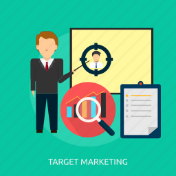 business, concept, idea, marketing, strategy, success, target icon
