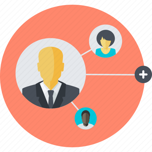 communication, community, contact, flat design, networking, people, social media icon