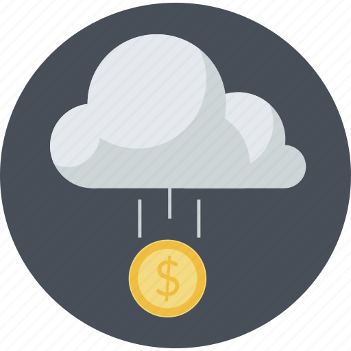 cloud, crowdfunding, flat design, funding, investment, platform, round icon