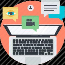 advertising, digital, flat design, internet, marketing, networking, social media icon
