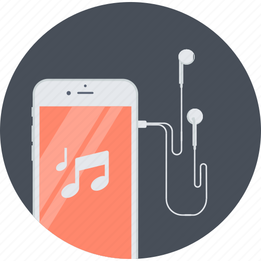 advertising, flat design, marketing, mobile, music, radio, service icon