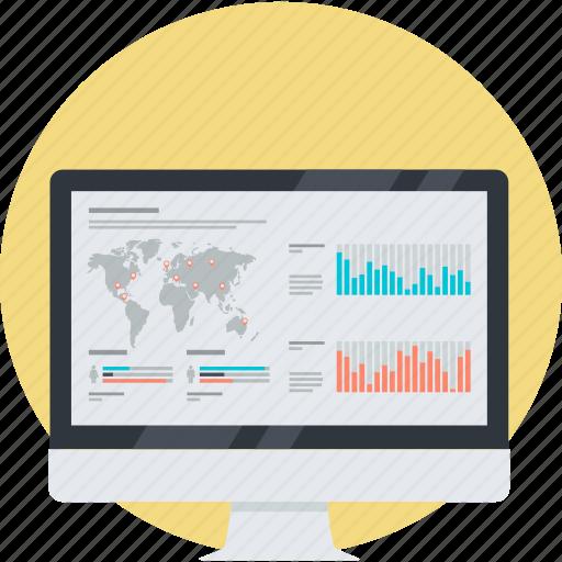 business, finance, flat design, market, round, stock, trade icon