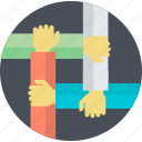 busines, flat design, partnership, round, team, teamwork, workflow icon