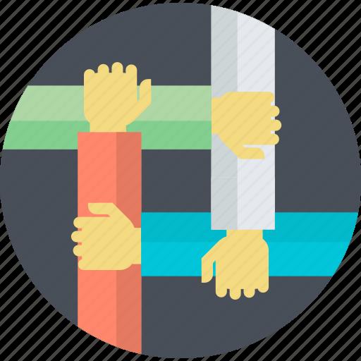 busines, flat design, partnership, round, team, teamwork, workflow icon