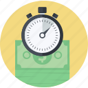 auction, banking, business, finance, flat design, money, time icon