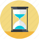business, deadline, flat design, hourglass, management, time icon