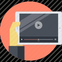 ads, advertising, flat design, marketing, movie, promotion, video icon