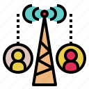 communication, connect, link, remote, semaphor, signal, wireless icon