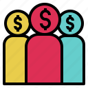 client, customer, habitue, money, people, perchaser, shopper icon