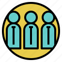 assistant, authority, businessman, office, people, salesman, staff icon