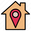 house, location, place, point, position, site, spot icon
