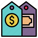 cost, money, price, tag, ticket, value icon