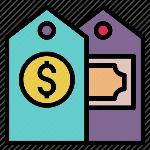 cost, money, price, tag, ticket, value icon