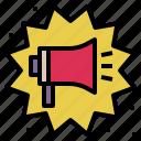 annouce, boom, declare, megaphone, notification, promotion, sales icon