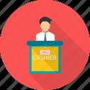 shopping, register, cashier, cash, payment, sale icon