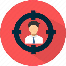 business, marketing, promotion, seo, target icon