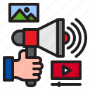 advertising, business, marketing, megaphone, promotion icon