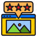 favorite, feedback, rating, review, star icon