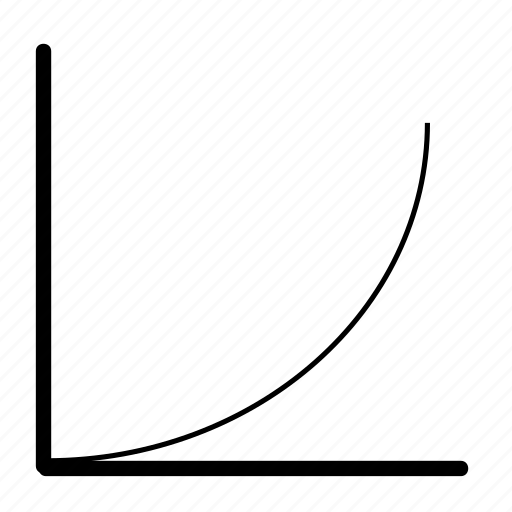 chart, exponential, graph, growth, increase, market, statistics icon