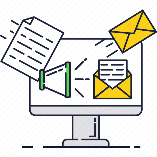 advertisement, email, loudspeaker, mail, marketing, subscription icon