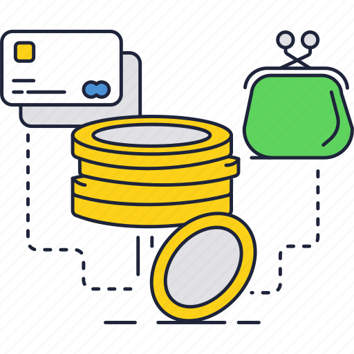 bank, card, coins, credit, money, wallet icon
