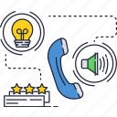 mobile, light, idea, phone, call, bulb, ring