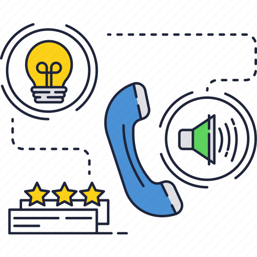 bulb, call, idea, light, mobile, phone, ring icon