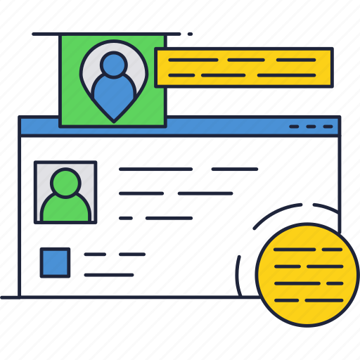 avatar, internet, online, people, profile, social icon