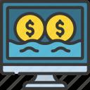 digital, money, flow, income, finances