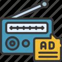 radio, ads, promotion, advertising, audio