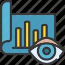 visualise, data, vision, eye, chart