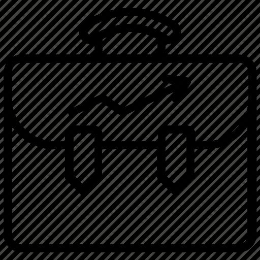 briefcase, business bag, business portfolio, money bag, suitcase icon