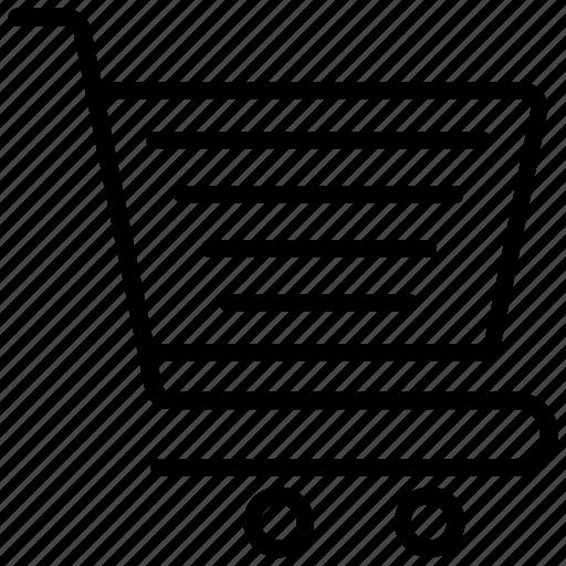 commerce, ecommerce symbol, shopping, shopping cart, shopping trolley icon