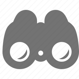 binoculars, find, scout, search, zoom icon