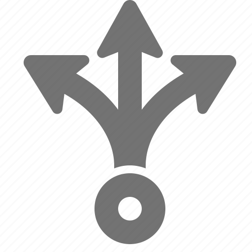 arrow, branch, choice, decision, direction, possibility, split icon