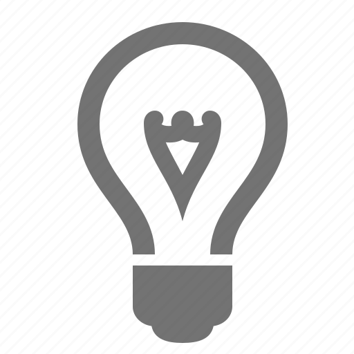 bright, bulb, idea, light, solution, thought icon