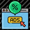 click, computer, mouse, through icon
