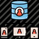 platforms, customer, storage, data icon