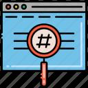 hashtag, label, price, tag icon