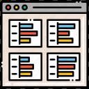 analytics, analysis, graph, vendor icon