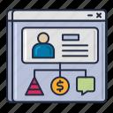 customer, storage, data, platform icon
