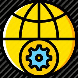 business, finance, marketing, settings, web icon
