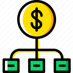 business, diagram, finance, marketing icon