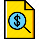 business, file, finance, marketing, search icon